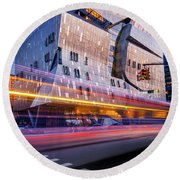 Round Beach Towel featuring the photograph The Cooper Union Nyc by Susan Candelario