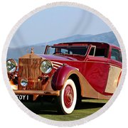 The Copper Kettle Rolls-royce Round Beach Towel