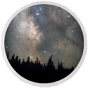 Round Beach Towel featuring the photograph The Core by Cat Connor