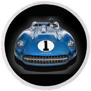 The  1957 Corvette Ss Round Beach Towel by Gary Warnimont