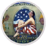 The Cost Of Freedom Round Beach Towel