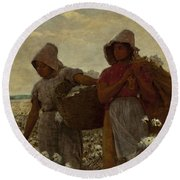 The Cotton Pickers Round Beach Towel