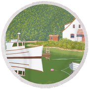 The Cottsge At Blackberry Point Round Beach Towel