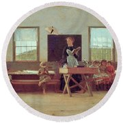 The Country School Round Beach Towel
