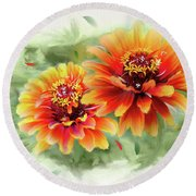 The Couple Round Beach Towel by Mary Timman