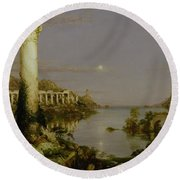 The Course Of Empire - Desolation Round Beach Towel