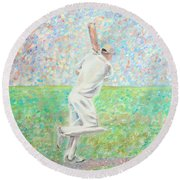 The Cricketer Round Beach Towel
