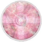 The Cross Of Believings Round Beach Towel by Sherri's Of Palm Springs