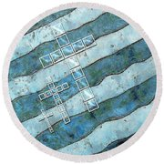 The Cross Speaks Of You Round Beach Towel