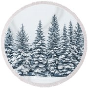 The Crown Of Winter Round Beach Towel