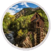 The Crystal Mill Round Beach Towel