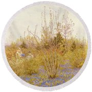 The Cuckoo Round Beach Towel by Helen Allingham