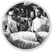 The Curse Of Frankenstein 1957 Baron Victor Frankenstein Round Beach Towel