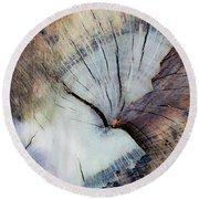 Round Beach Towel featuring the photograph The Cut by Stephen Anderson