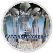 The Dallas Cowboys Championship Hardware Round Beach Towel