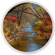 The Dan River Round Beach Towel by Kathryn Meyer