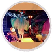 Round Beach Towel featuring the photograph The Dance- by JD Mims