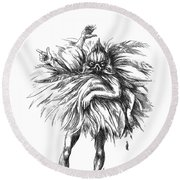 The Dance Macabre Round Beach Towel