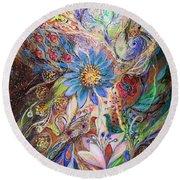 The Dance Of Light Round Beach Towel