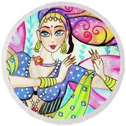 The Dance Of Pari Round Beach Towel