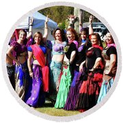 The Dancers Round Beach Towel by Kathy Baccari