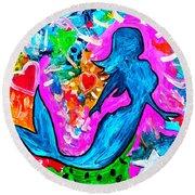 The Dancing Mermaid Round Beach Towel