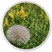 The Dandelion  Round Beach Towel