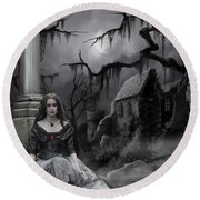 The Dark Caster Awaits Round Beach Towel by James Christopher Hill