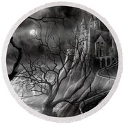 The Dark Castle Round Beach Towel