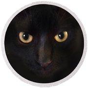 The Dark Cat Round Beach Towel by Gina Dsgn