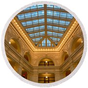 The David Whitney Building Round Beach Towel