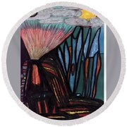 The Dawn Of Formation Round Beach Towel by Darrell Black