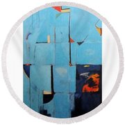 The Day Dispatches The Night Round Beach Towel