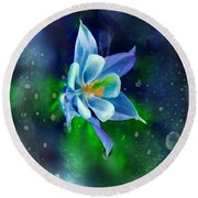 The Deep Blue Round Beach Towel by Colleen Taylor