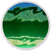 Round Beach Towel featuring the photograph The Deep End by Wendy Wilton