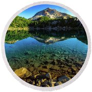 The Depths Of Lake Helen Round Beach Towel