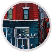 The Deville Round Beach Towel by Reb Frost