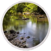 Round Beach Towel featuring the photograph The Devon River by Jeremy Lavender Photography