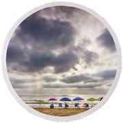 The Diehard Beach Lovers Round Beach Towel