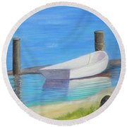 The Dinghy Round Beach Towel