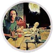 The Dinner Scene - Texas Chainsaw Round Beach Towel
