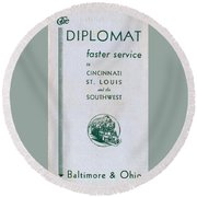 The Diplomat Round Beach Towel
