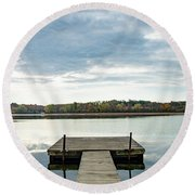The Dock Round Beach Towel