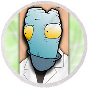 The Doctor Round Beach Towel by Uncle J's Monsters