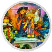 The Dolls Round Beach Towel