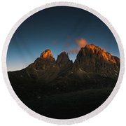The Dolomites, Italy Round Beach Towel by Happy Home Artistry