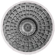 The Dome Bw  Round Beach Towel