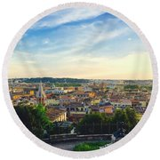 The Domes Of Rome Round Beach Towel