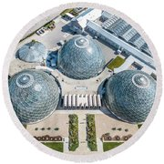 Round Beach Towel featuring the photograph The Domes by Randy Scherkenbach