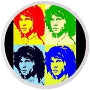 The Doors And Jimmy Round Beach Towel